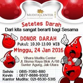 Donor Darah Mudita Terbuka Untuk Umum